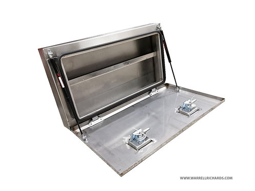 W800xD150XH450 Stainless,Mirrored lid truck tool box, First aid storage box