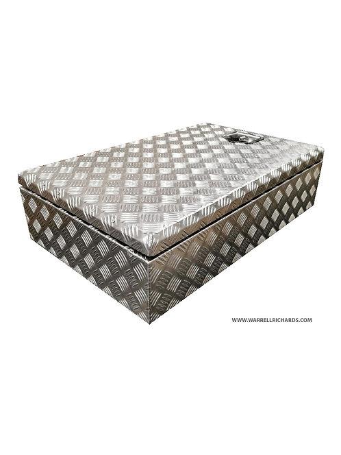 W800XD500XH220 Aluminium chequer tool box, Truck box, Catwalk storage, Strap box