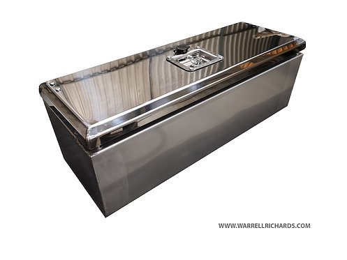 W800XD250XH250 Matt Stainless, Mirrored lid truck tool box, Citreon Relay tipper