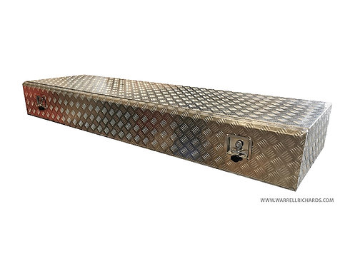 W2000XD600XH250 Aluminium chequer toolbox, Truck box, Low loader trailer storage