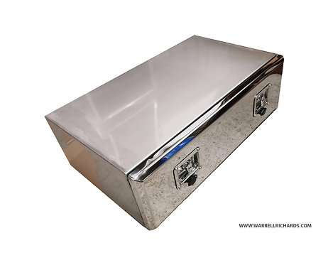 W1000xD500xH250 Stainless, Mirrored lid truck tool box, Grab Lorry tipper