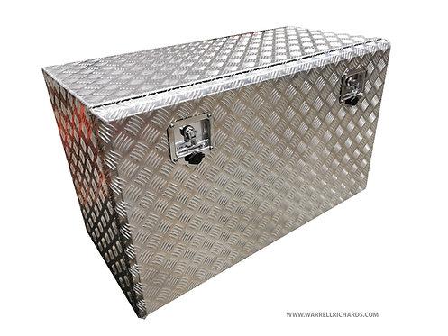 W1000xD600xH600 Aluminium chequer tool box, Storage locker, Motorhome, Campervan