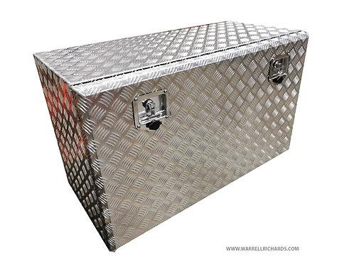 W1000xD500xH600 Aluminium chequer tool box, Storage locker, Motorhome