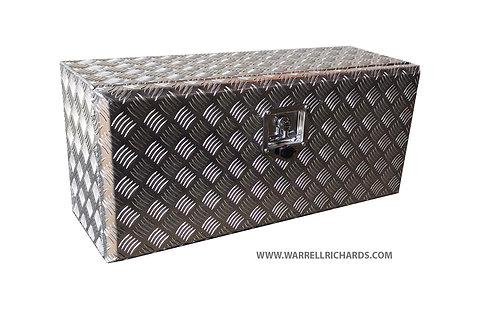 W800XD300XH300 Aluminium chequer tool box, Truck box, transit drop side storage