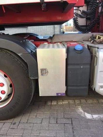 Volvo FH AdBlue Aluminium Toolbox, Side mount toolbox, Steering Arm, Chassis