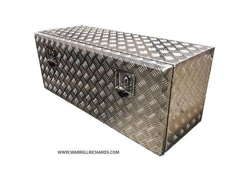 W1000xD300xH300 Aluminium chequer tool box, Truck box, Iveco daily strap box