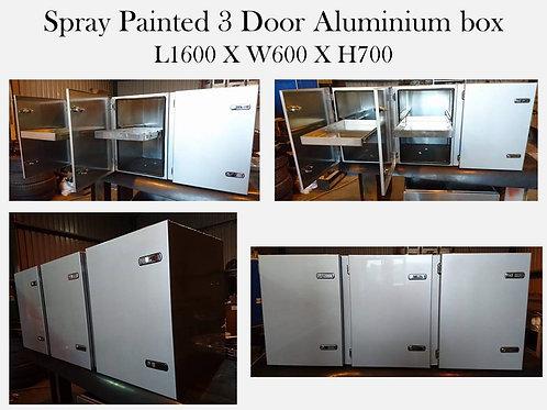 Spray painted 3 door Aluminium truck tool box, UK Custom made toolbox