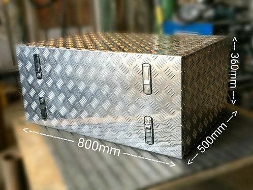 800x500x360 Chequer plate Aluminium box