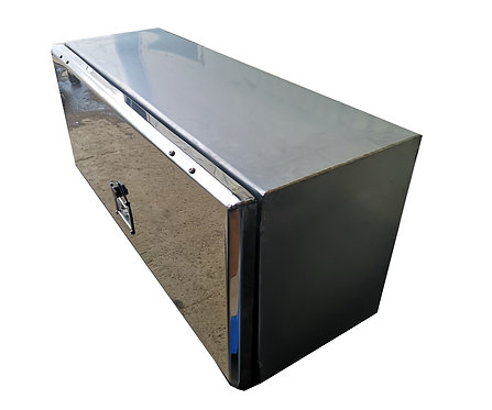 W800XD400XH400 Matt Stainless, Mirrored lid toolbox, Transit / Citroen recovery