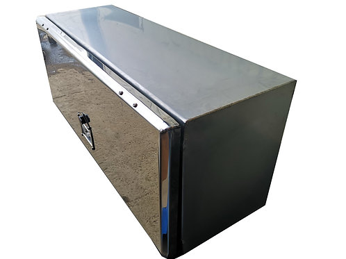 W800XD400XH400 Stainless, Mirrored lid toolbox, Transit / Citroen recovery