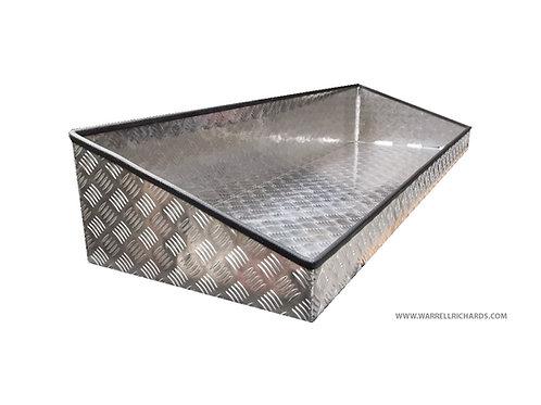 W1200xD475xH180/100 Aluminium chequerplate cargo container / organiser tray