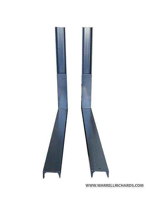 750xH500mm Steel brackets, Powder coated channel, fitting / mounting brackets