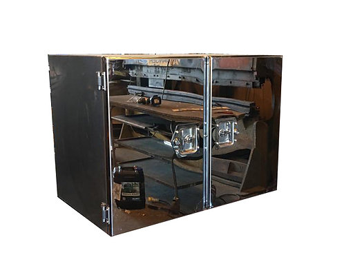 W800xD500xH500 Matte Stainless Truck Toolbox, Mirrored Stainless double doors
