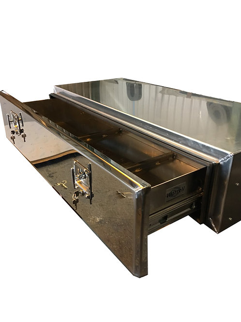W800xD500XH250 Matte Stainless Mirrored Stainless Toolbox With Roll Out Shelf