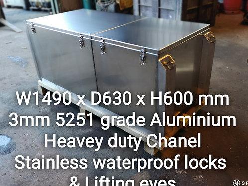 Boat Box Aluminium Toolbox, Custom Made Toolbox, Handmade in the UK