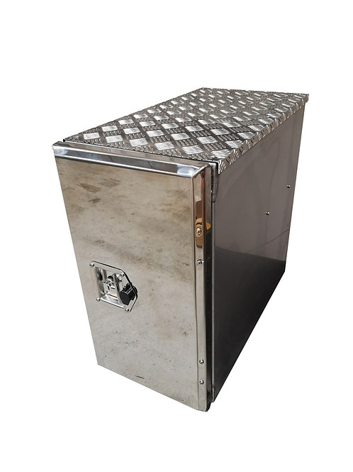 W300XD700XH650 Stainless, Mirrored lid truck tool box, Volvo FH side locker