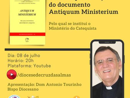 Diocese promove live sobre a instituição do Ministério do Catequista