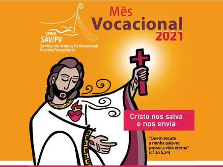 Comissão para os Ministérios Ordenados e a Vida Consagrada da CNBB apresenta cartaz - Mês Vocacional