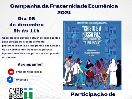 Seminário da Campanha da Fraternidade Ecumênica será realizado pelo Regional NE3