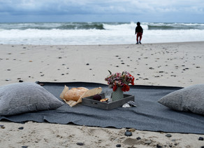 A beach picnic