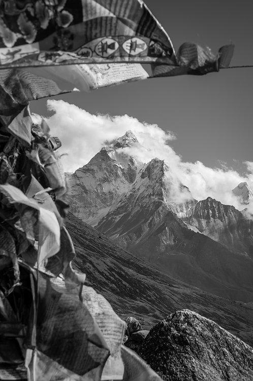 Prayer Flags Around The Himalayans