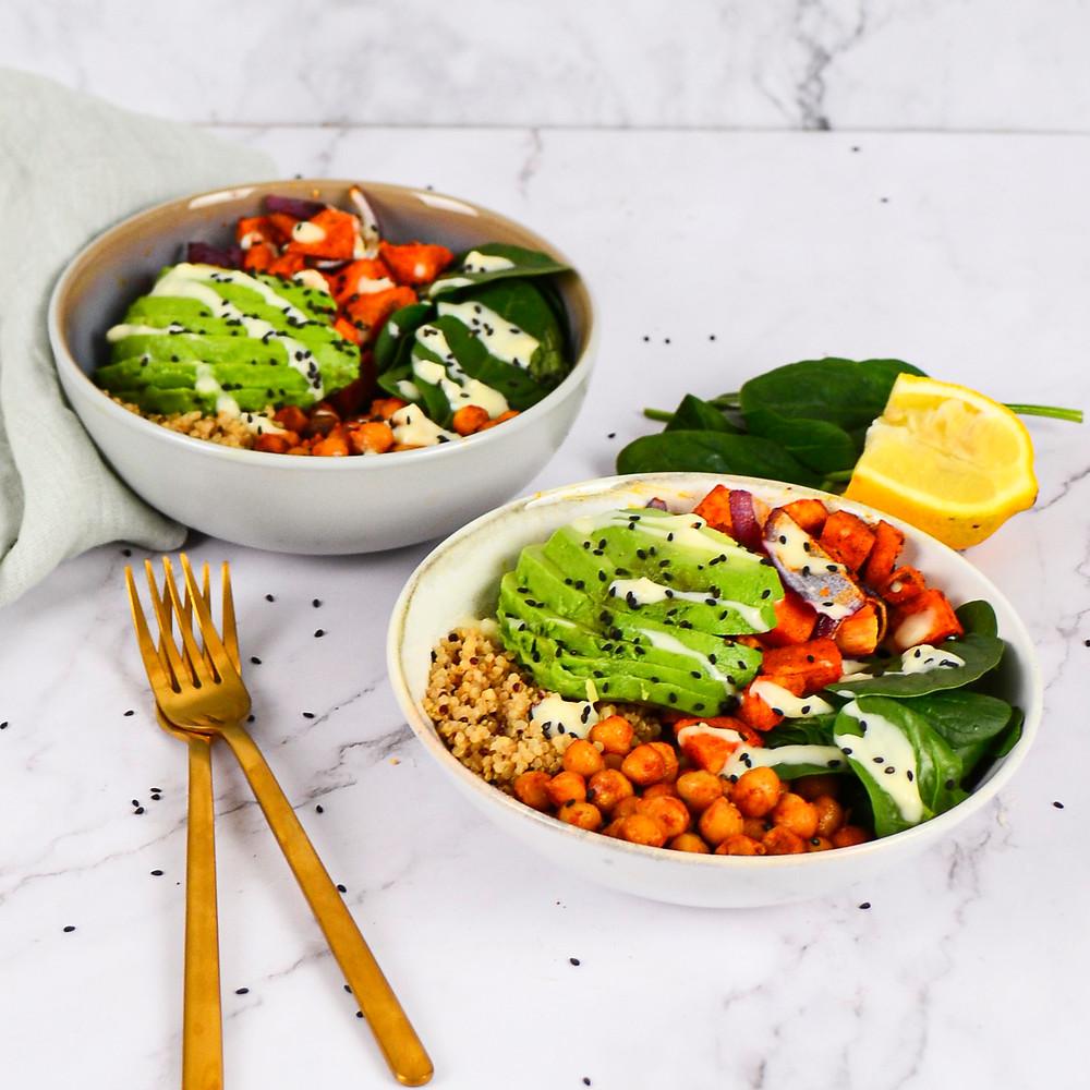 Buddahbowl recept met veel groente en quinoa