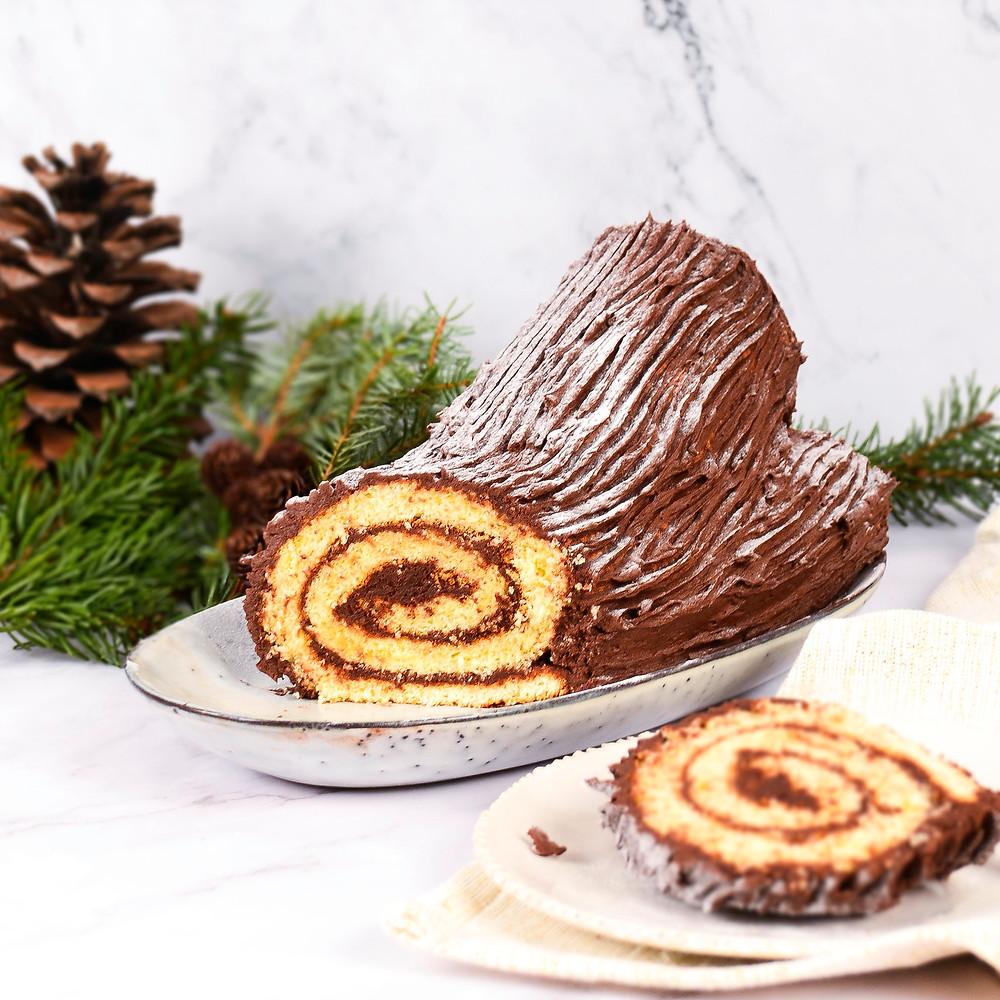 Bûche de Noël recept kerst