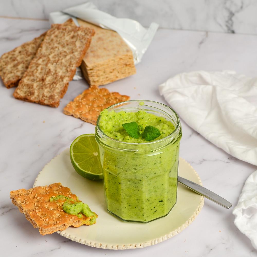 Recept voor een gezonde courgettespread