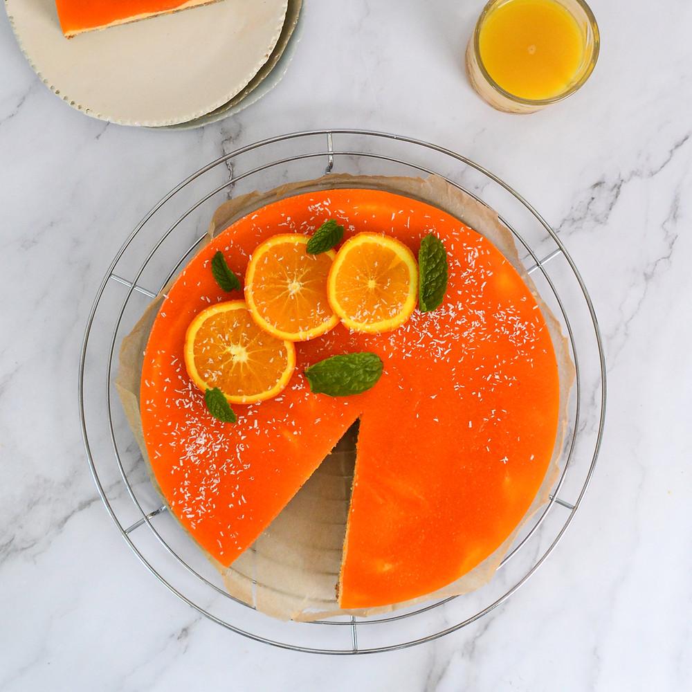 Recept voor een oranje kwarktaart voor Koningsdag
