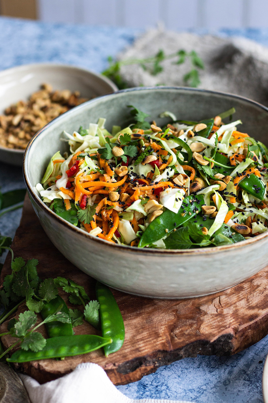 Recept voor een Aziatische salade met groente