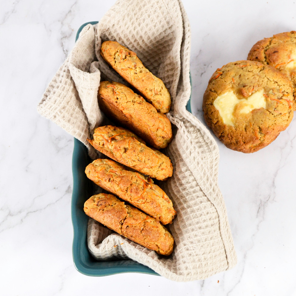 Carrot koeken met vulling van binnen