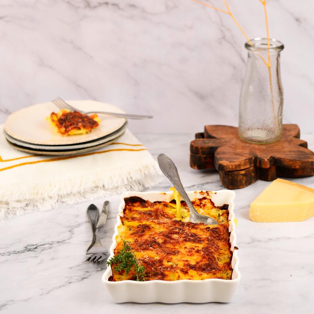 Aardappelgratin met kaas recept