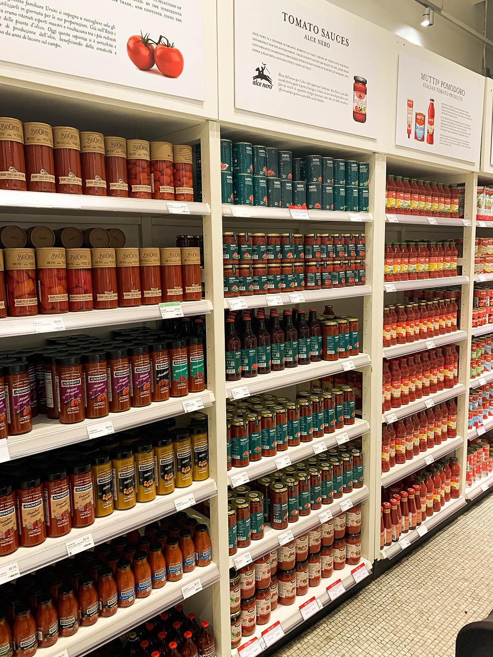 Italiaanse supermarkt New York