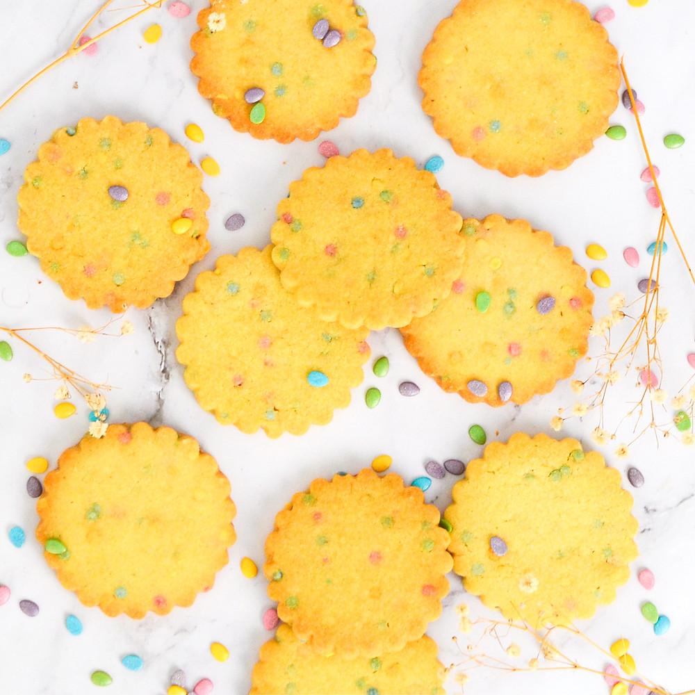 Recept voor shortbread confetti koekjes
