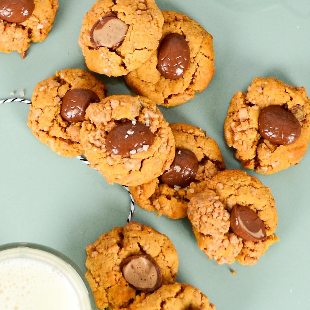 recept chocolade koeken met pindakaas