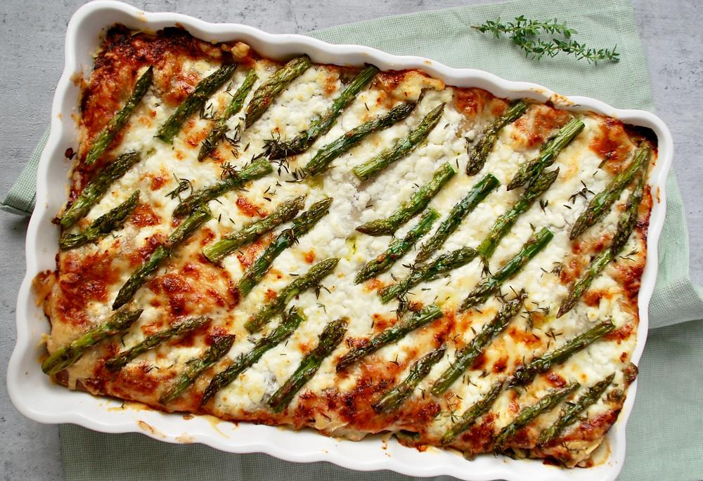 Groene lasagne met asperges