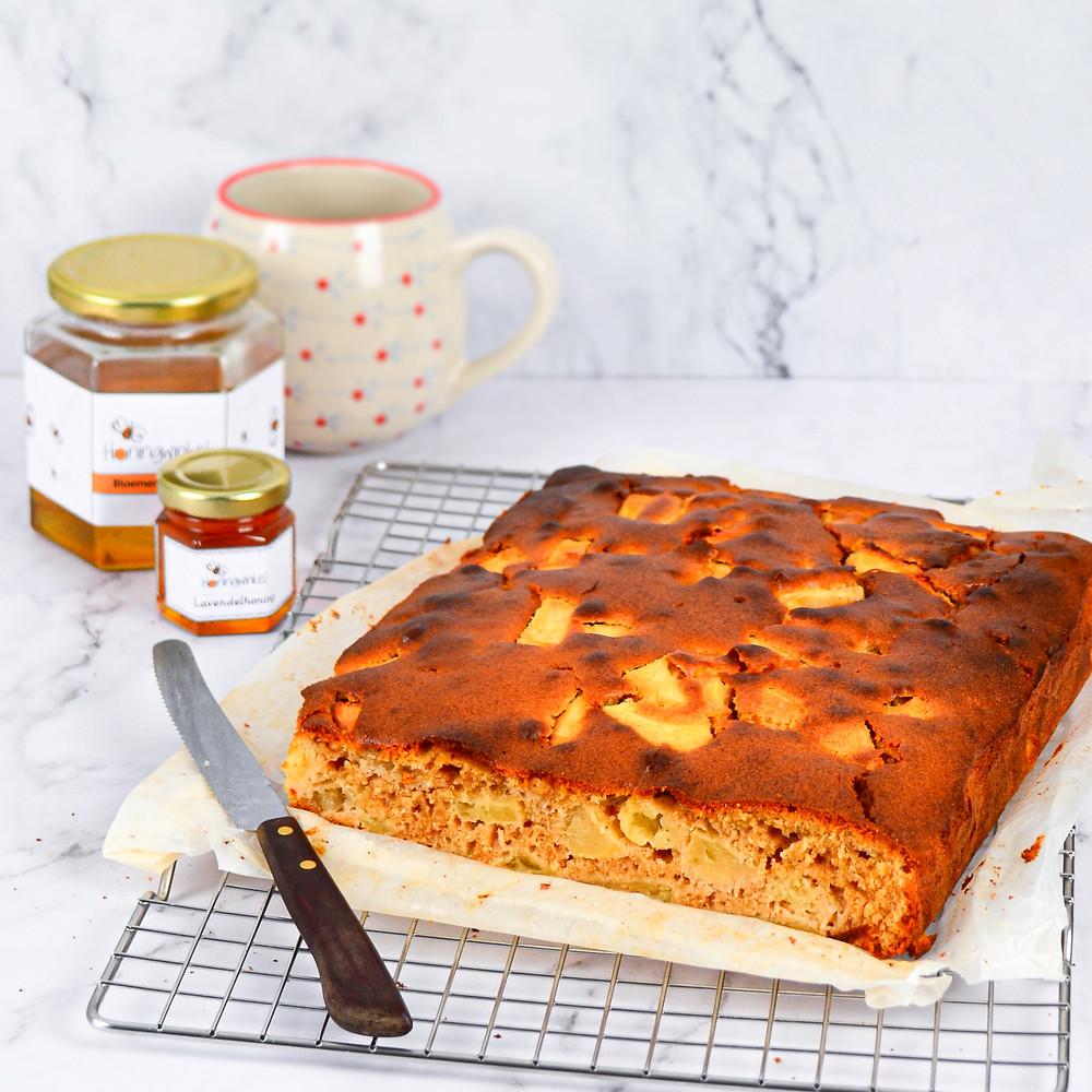 Recept voor honingcake met appel en kaneel