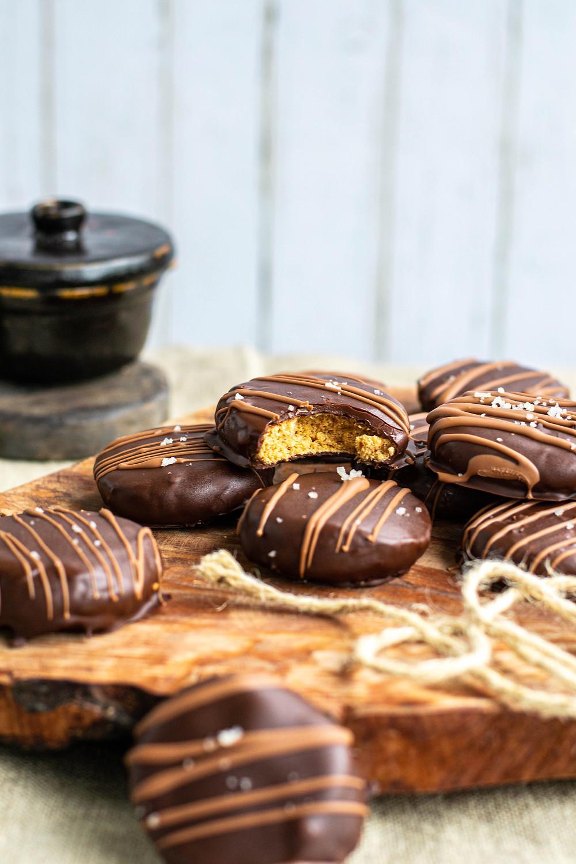 Recept voor pindakaaskoeken met chocolade