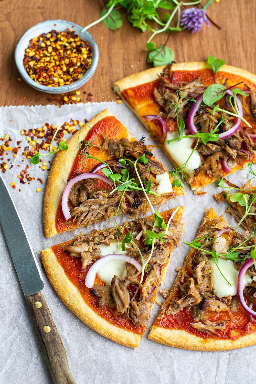 Recept voor pulled pork pizza