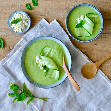 Groene healthy gazpacho
