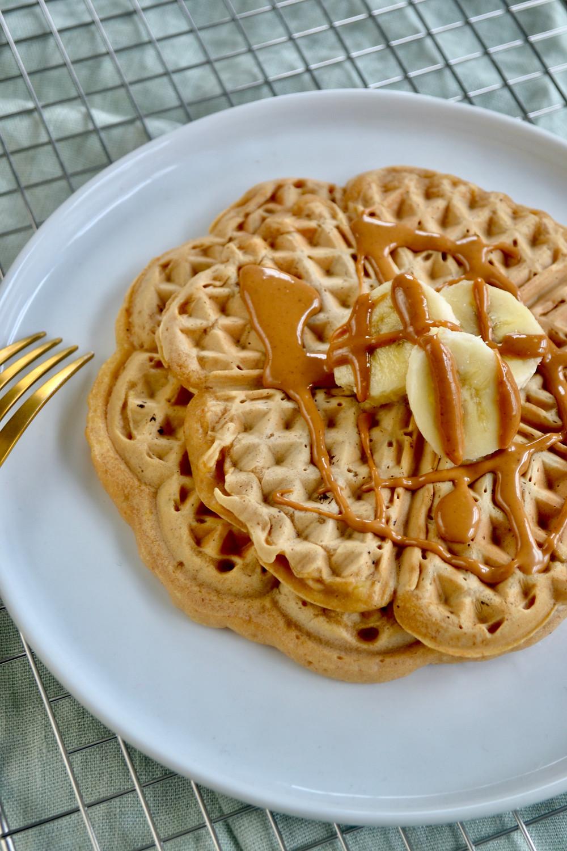 Gezonde pindakaas wafels