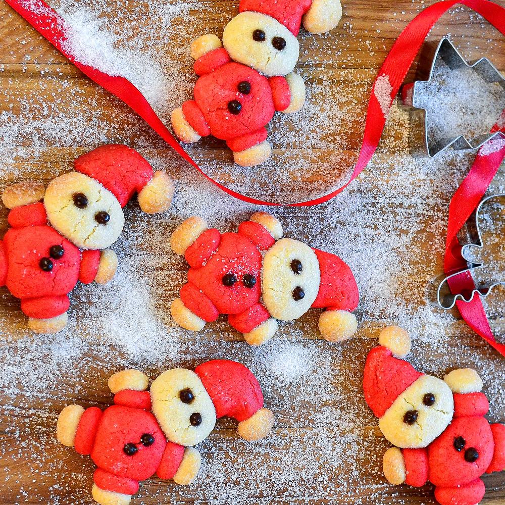 Recept om mini kerstman koekjes te maken