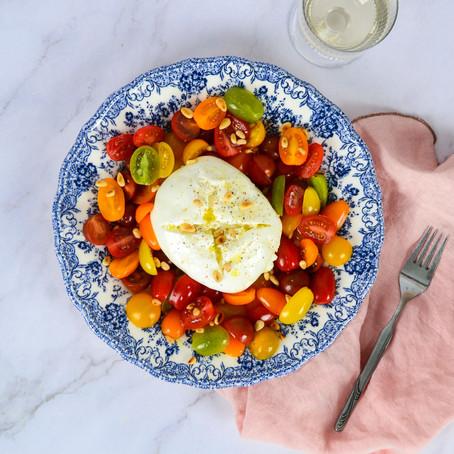 Tomaten buratta salade