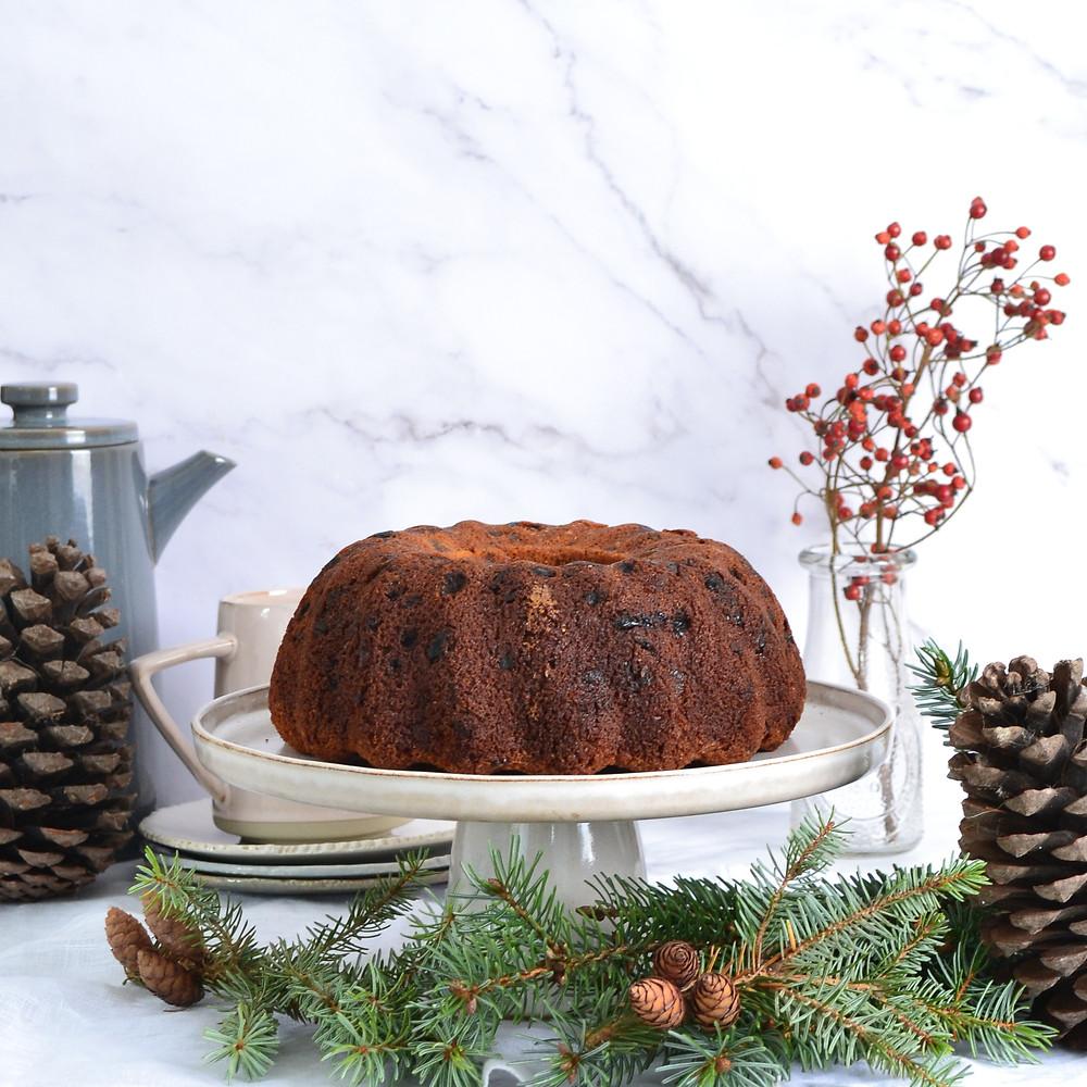 Recept voor een dessert met kerst namelijk een kersttulband