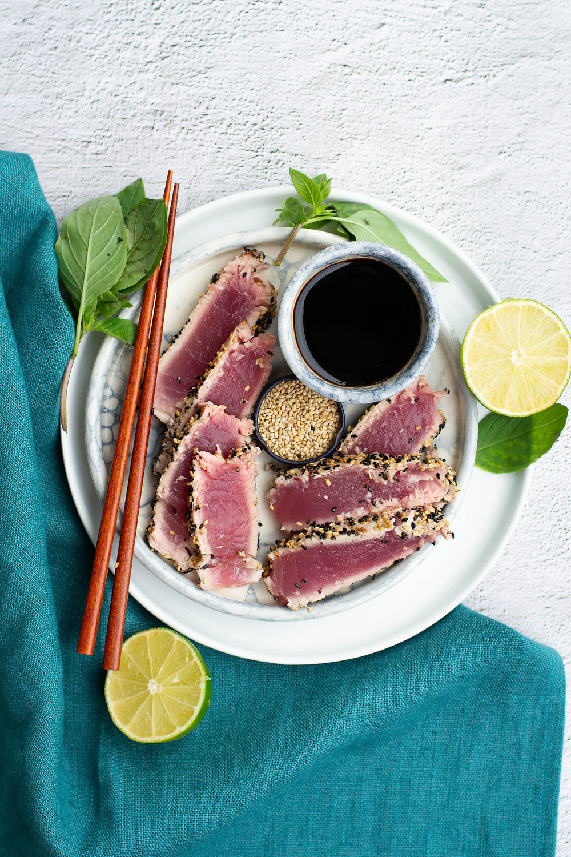 Recept voor tonijn tataki van de BBQ