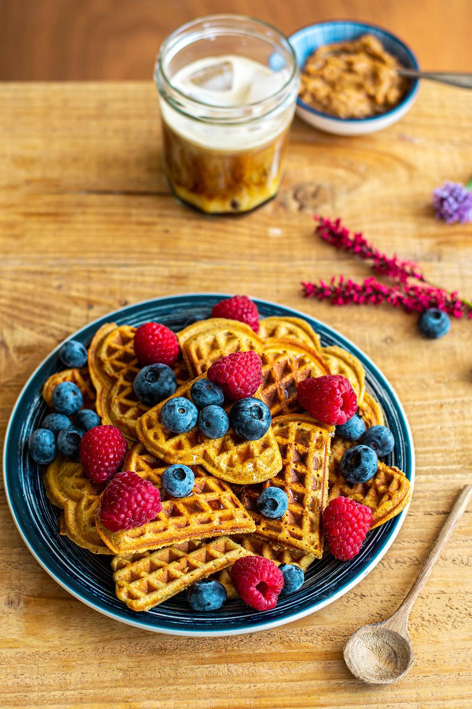 Recept voor gezonde wafels met fruit