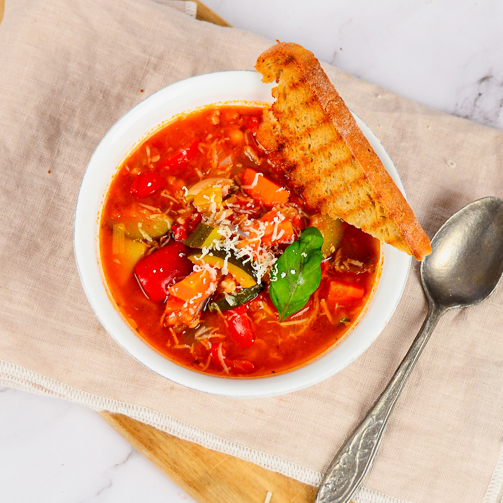 Recept gevulde Italiaanse groentesoep