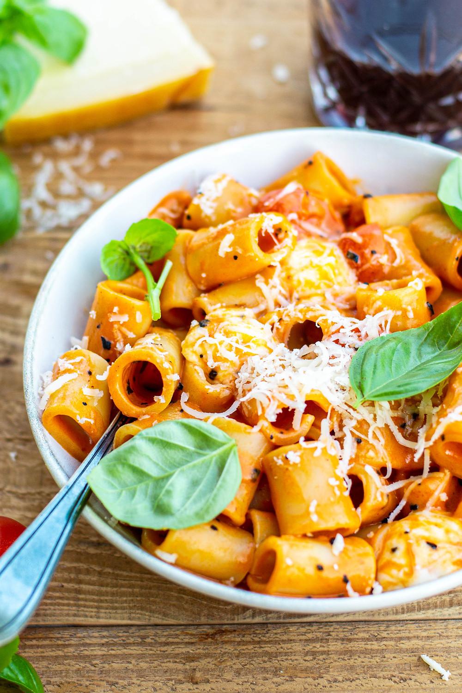 Recept om pasta met vodka te maken