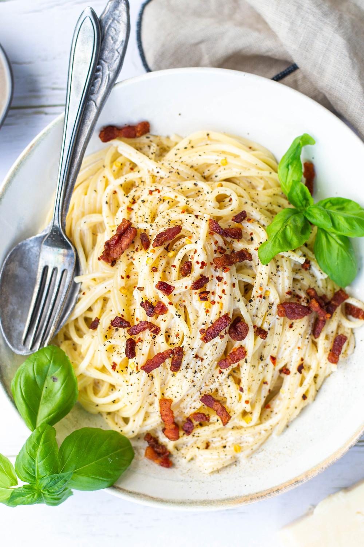 Recept om romige pasta te maken