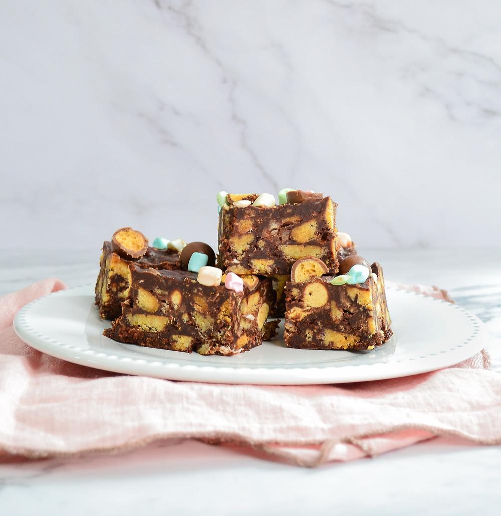 Recept voor een makkelijke chocoladetaart met Maltesers